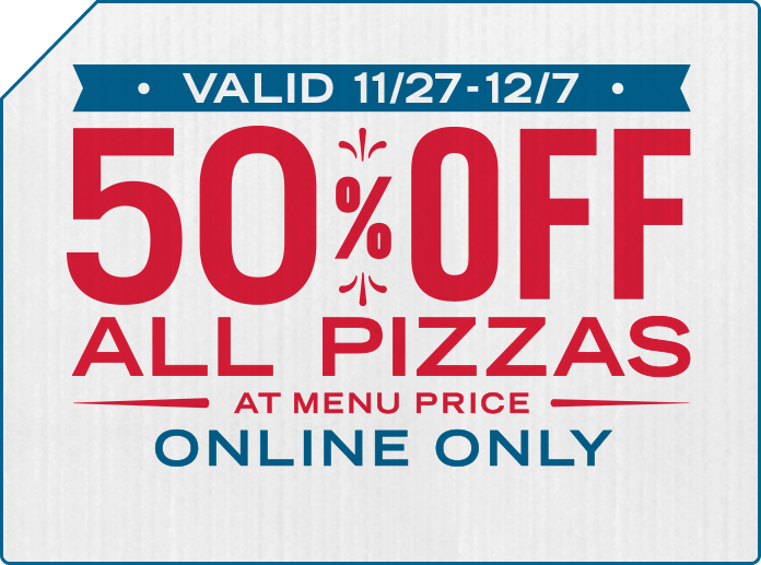 Domino S Pizza 50 Off All Pizzas At Menu Price Online Only 11 27 12 7 Phatwallet