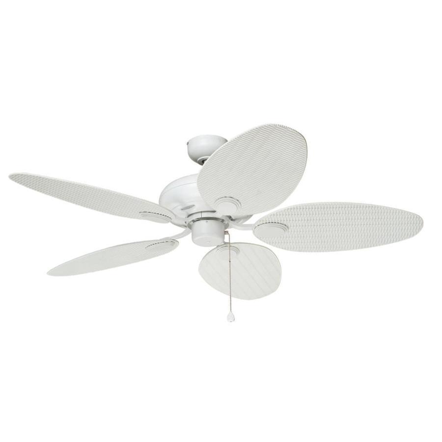 Harbor Breeze Tilghman 52-in Matte white Indoor/Outdoor Ceiling Fan ...