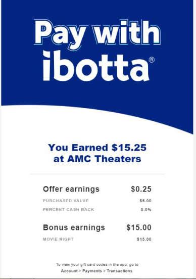 $10MM iBotta AMC/Regal Cinemas w/iBotta Pay